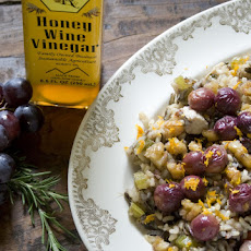 Wild Rice Pilaf with Roasted Grapes and Walnuts