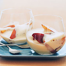 Peach Sabayon with Balsamic Peaches