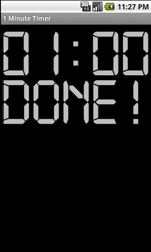 【免費生產應用App】1 Minute Timer-APP點子