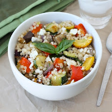Israeli Couscous Salad with Roasted Vegetables