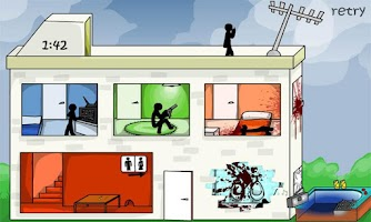 Screenshot of Stickman Stick Death Motel