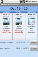 Screenshot of Weather Forecast USA