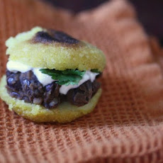 Mini Black Bean Arepas