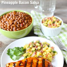 BBQ Chicken with Pineapple Bacon Salsa