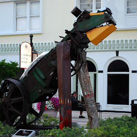 Dog Sculpture by Phil Grierson - City,  Street & Park  Street Scenes ( park, monster, florida, clearwater, mechanical, dog )