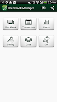 Screenshot of Checkbook Manager
