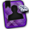 GO CONTACTS-DiamondPlaidPurple icon