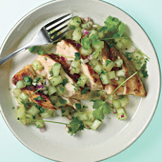 Grilled Chicken Breasts with Honeydew Salsa