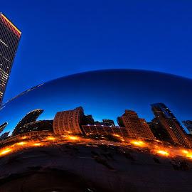 Chicago bean by Robert O'Sullivan - City,  Street & Park  Night