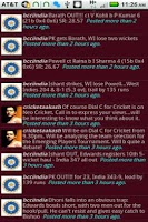 Screenshot of Cricket Tweets