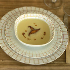 Celery-Root Bisque with Shiitakes