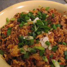 Chinese Mushroom Pork Fried Rice