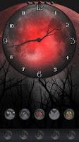 Screenshot of Twilight Moon Clock Widget