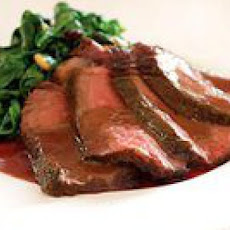 Sliced Steak with Brunello Sauce