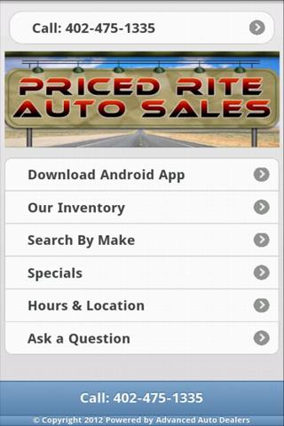 Priced Rite Auto App