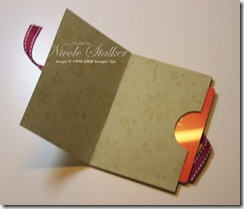 A Beautiful Life Gift Card Holder Open copy