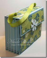 Accordian Card Organiser side