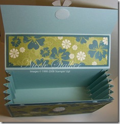 Accordian Card Organiser open