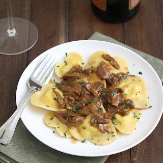 Cheese Ravioli With Mushroom Sauce Recipes