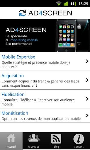 Ad4Screen mobile marketing