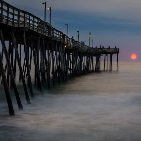 Avalon Pier by Tony Cox - Buildings & Architecture Bridges & Suspended Structures ( , Beach, sunset, blue, water, ocean.  )