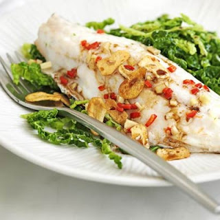 Chinese Steamed Bass With Cabbage