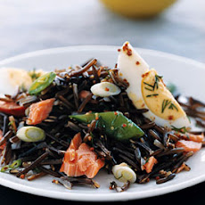 Wild Rice with Smoked Fish and Snap Peas
