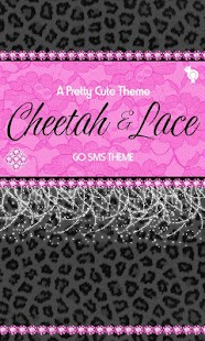 Cheetah & Pink Lace Theme SMS - screenshot
