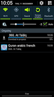 Screenshot of Quran french translation mp3