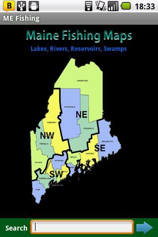 Maine Fishing Maps - 13K Maps