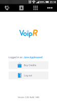 Screenshot of VoipR - Cheap calls