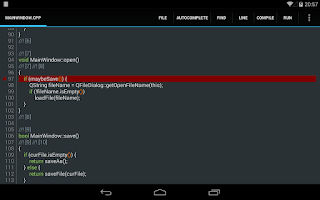 Screenshot of C4droid - C/C++ compiler & IDE