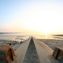 Ramp by Alex Rift - Landscapes Beaches ( fisheye, blue, sunset, sea, beach, ramp )