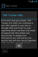 Screenshot of SIM Tracker