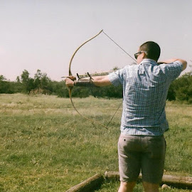 The Bow by Hannah Palmer - People Family ( love, film, simple, 35mm, husband )