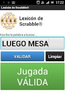 Screenshot of Lexicon de Scrabble®