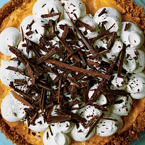 Chocolate Pumpkin Mousse Pie Recipe | Yummly