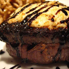 Filet Mignon W/Balsamic Syrup & Boursin Cheese