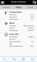 Screenshot of Weather for the Netherlands