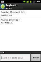 Screenshot of Movilnet Sms
