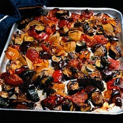 Oven-roasted Ratatouille