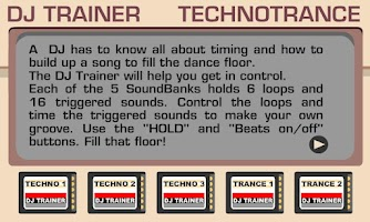 Screenshot of DJ Trainer TechnoTrance