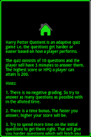 Screenshot of Harry Potter Quotient FREE