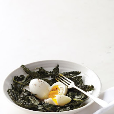 Crisp Kale Nests with Soft-Cooked Eggs
