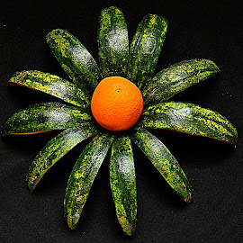 Composition of Orange & watermelon skin. by Andrew Piekut - Food & Drink Fruits & Vegetables
