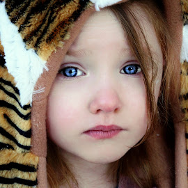 Tiger Hat by Cheryl Korotky - Babies & Children Child Portraits