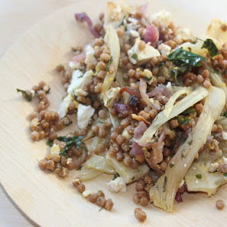 Make-Ahead Toasted Whole-Wheat Israeli Couscous with Fennel, Lemon, and Feta