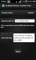 Screenshot of Mobile Phone Theft Tracker