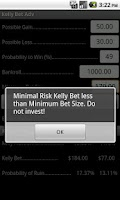 Screenshot of Kelly Bet Adv