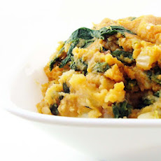 Pumpkin Mashed Potatoes with Fennel and Spinach